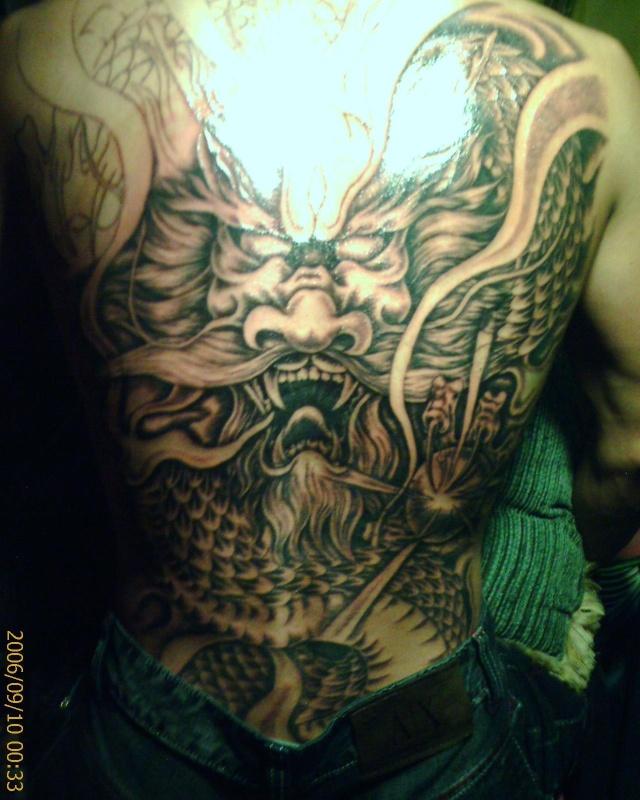 披肩龙图腾纹身图案大全内容图片分享