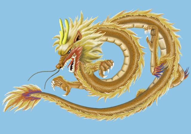 手绘中国龙(精美图片)