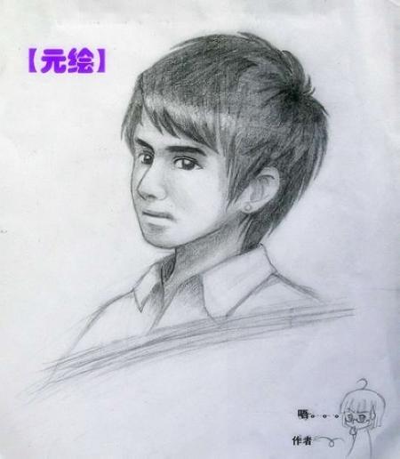铅笔手绘人头