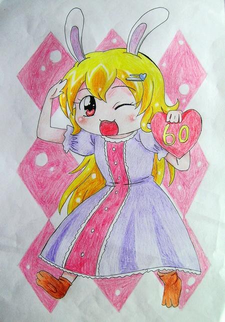 一,手绘图画     1.水粉画动漫女生