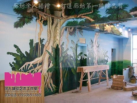 墙绘树素材图片