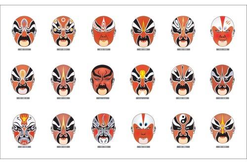 京剧脸谱简笔画步骤-简单脸谱图片画法步骤/京剧脸谱简单画法步骤