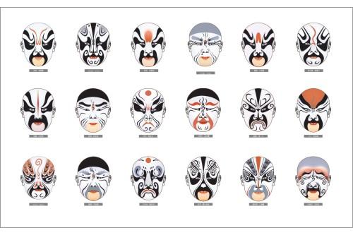 京剧脸谱简笔画