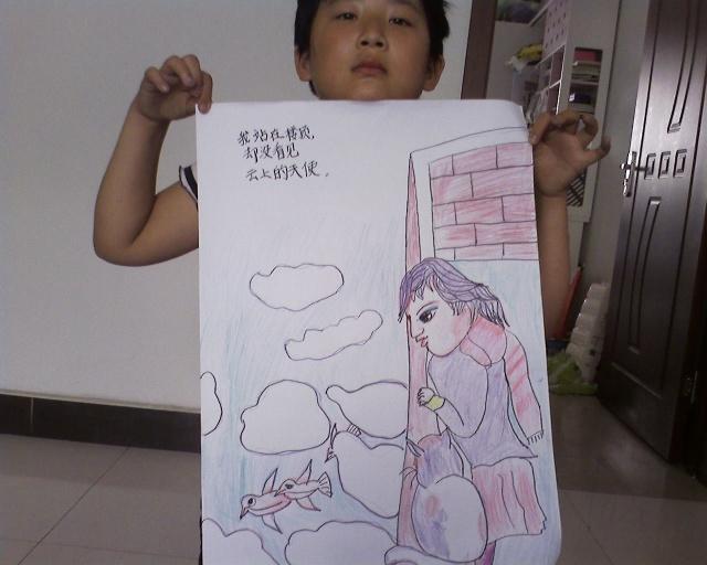 作文:我和我的祖国 国画班毕业改学素描画 小提琴视频图片