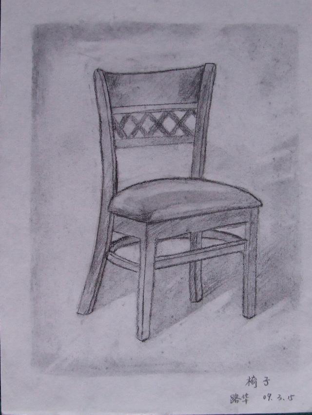 素描画作二——《用右脑绘画》作品