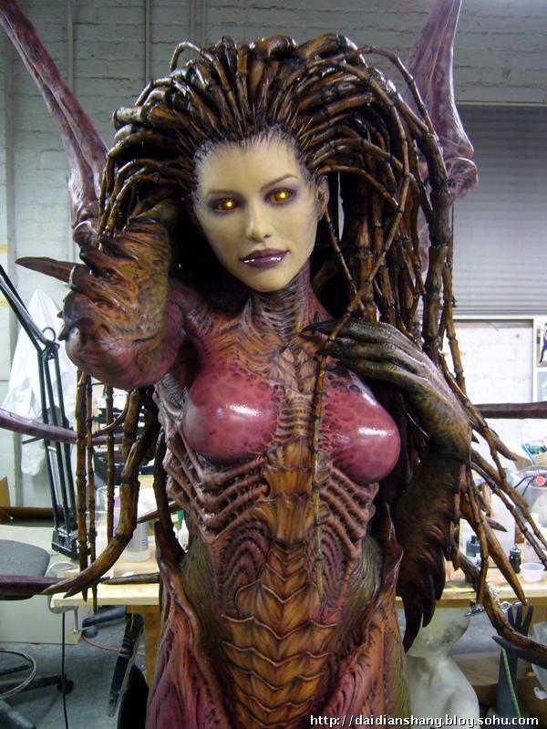恶的美丽 星际刀锋女王凯瑞甘塑像构模图图片