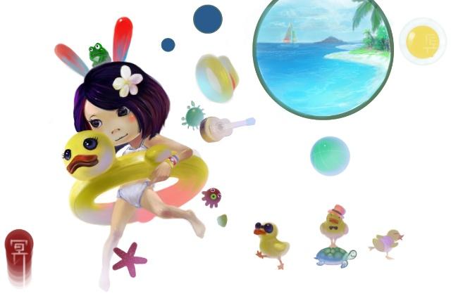 学游泳,学画画~学