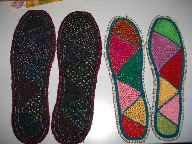 手工编织地毯鞋的方法
