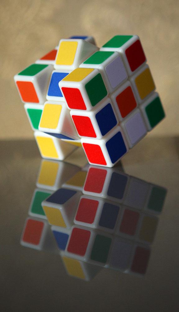 拼三阶魔方六面图解