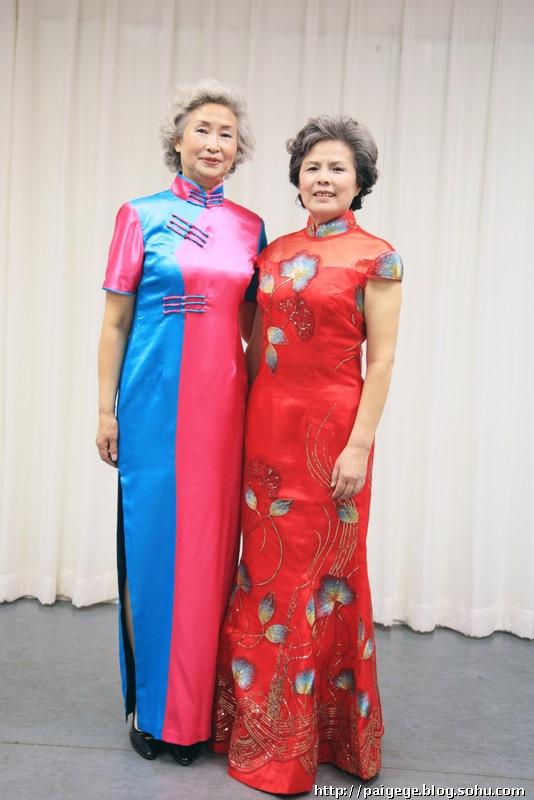 旗袍妆发型中老年分享展示