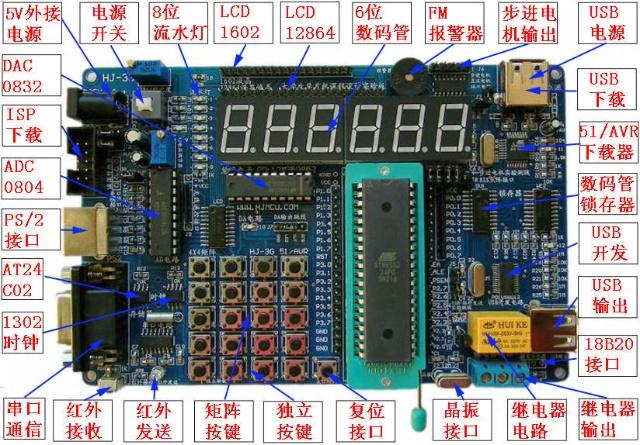max232串口通讯模块,可以与计算机串行通信和硬件仿真,同时也可对stc