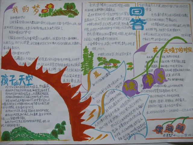 三年级手绘读书卡