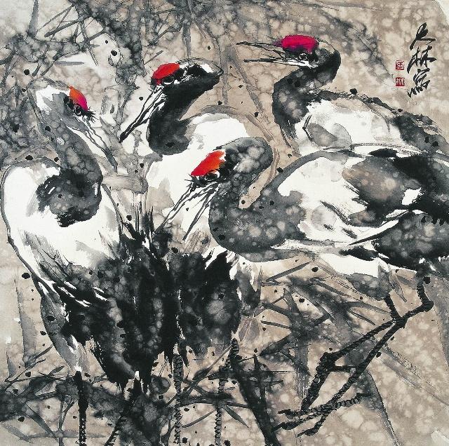 当代花鸟画家张大林作品图片