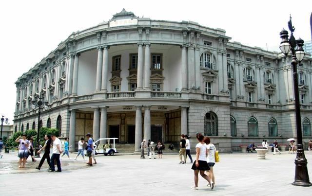 下图这座欧式建筑是浙江兴业银行在天津的分行.