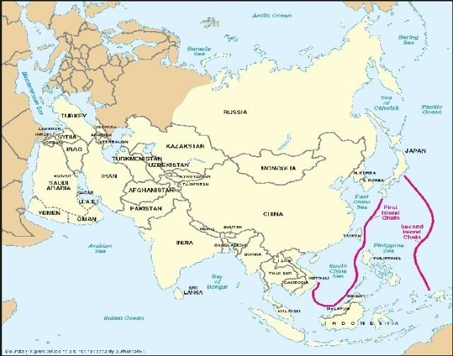 第二步就是控制把小笠原群岛(包括硫磺岛)和关岛与印尼连接起来的第二