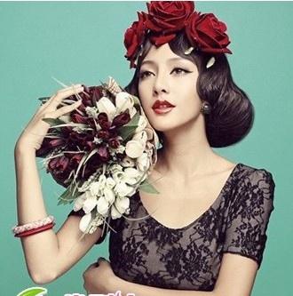 复古盘发新娘发型-最美新娘发型 新娘发型设计图片