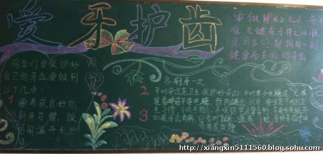 幼儿园爱牙黑板报图片