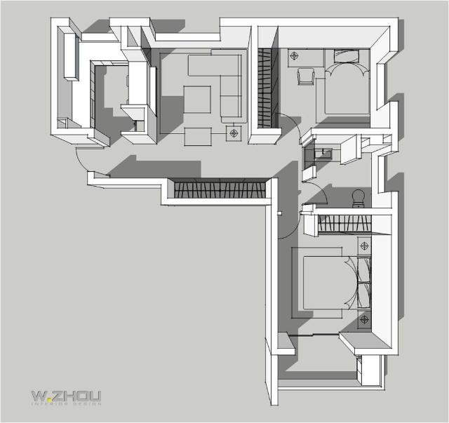 项目名称: 恋恋北城 项目面积:a户型,b户型,c户型 设  计 师:周  围