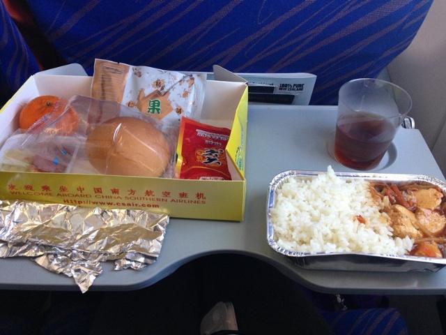 飞机上的餐饭