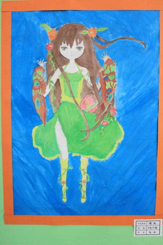 校园的春天美术作品